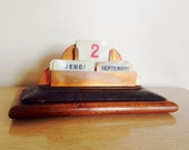 Perpetual Calendar French Art Deco Vintage Office