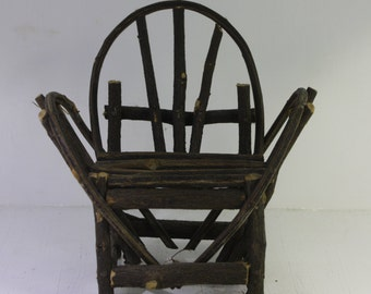 Vintage Handmade Miniature garden twig doll house chair