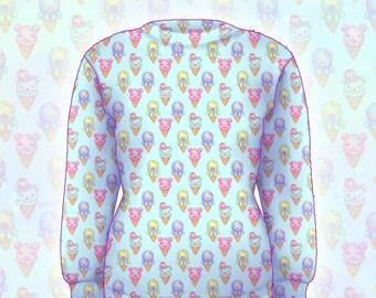 """Mint """"IceCreamy Bearcones"""" Sweater"""