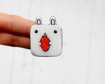 kawaii jewelry gift|for|girls bunny brooch bunny pin bunny jewelry bunny kids gift|for|sister gift baby shower gift bunny birthday gift idea