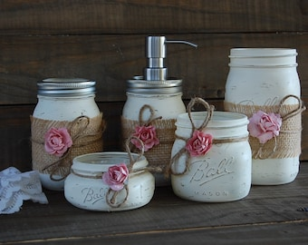 Hand painted shabby chic home decor by TheVintageArtistry