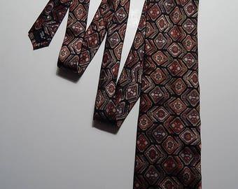 "58"" Como Collezione Silk Black Orange Blue Necktie Neck Tie"