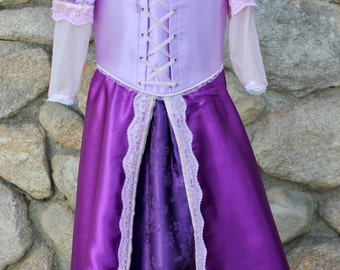 Rapunzel inspired Purple and Pink Dress (Size 6-8)