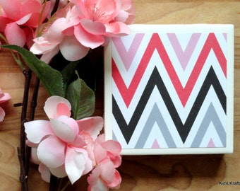 Coasters - Drink Coasters - Tile Coasters - Ceramic Coasters - Valentine's Day Decor - Ceramic Tile Coasters - Coaster Set - Table Coasters