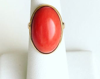 18k Coral Statement Ring