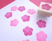 Cherry blossom stamp, Plum blossom, Japanese stationery, Wedding tree DIY