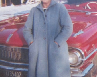 Sunday's Finest - Lovely 1950's Woman And Her New Car Ready For Church Snapshot Photo - Free Shipping