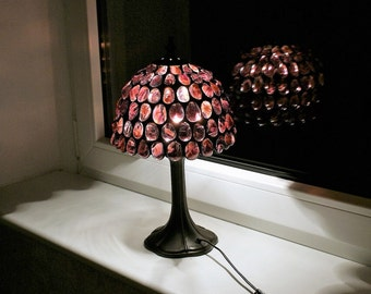 Purple Stained Glass Lamp, Tiffany Lamp