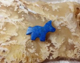 Small Dark Blue Lapis Lazuli Horse/Pony Cabochon/ backed