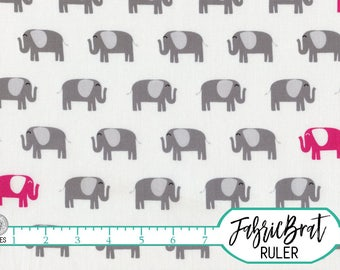 PINK & GRAY ELEPHANT Fabric by the Yard, Fat Quarter Elephant Fabric Hot pink Fabric Quilting Fabric Apparel Fabric 100% Cotton Fabric a2-38