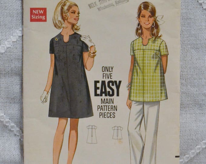 Vintage Butterick 5253 Sewing Pattern Misses Maternity Dress Top Size 8 Crafts  DIY Sewing Crafts PanchosPorch
