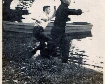 Vintage Photo..Run For It, 1920's Original Found Photo, Vernacular Photography
