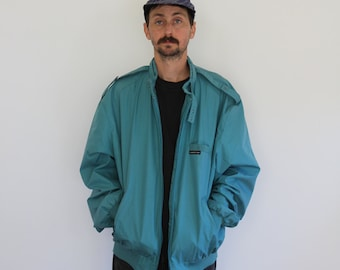 Teal Members Only Pilot Jacket XL