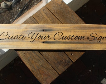 Custom engraved sign etsy for Design your own house sign