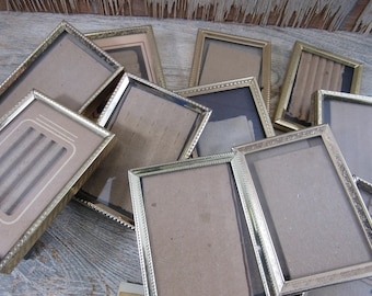 Vintage Metal Photo Frames Miniature Mid Century Gold Frames Crafting Wedding Home Decor Sold Individually