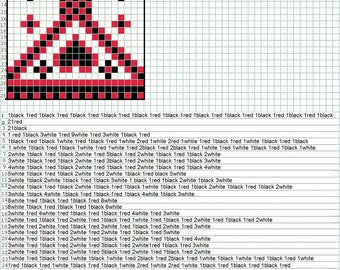 Indian hearts Bead Loom Pattern