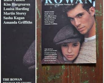 Vintage 1990's Rowan Knitting Magazine Number 16, 1994 pattern book, 28 knitting patterns including designs by Fassett, Hargreaves, Harding