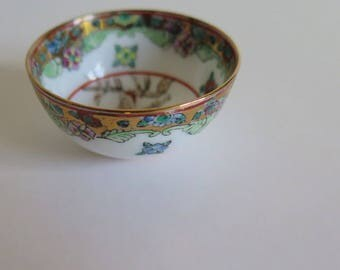Miniature Porcelain Bowl//Hand Painted Chinese bowl//Asian bowl