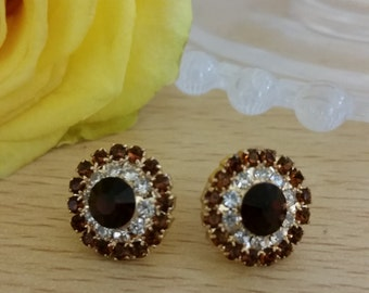 80s ROUND GEM earrings