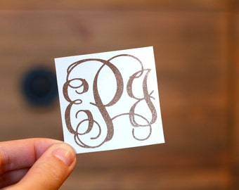 Glitter Vine Script Monogram
