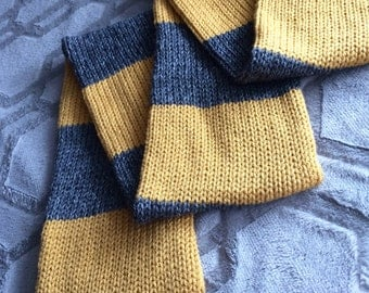 Hufflepuff Scarf, Pittsburg Steelers scarf, New Orleans Saints Scarf, Harry Potter scarf, Hogwarts scarf