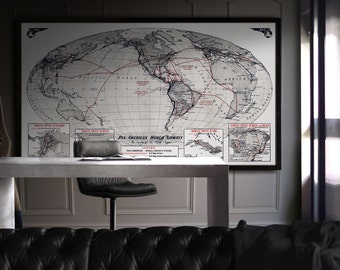 Vintage Maps Print Posters And More By FirstClassDesignCo On Etsy - Faded poster maps for sale us