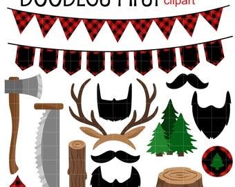 Lumberjack clip art | Etsy