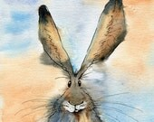 Limited edition print - Malkin the Hare, hare print