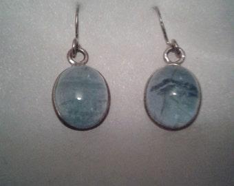 Silver & Apatite Dropper Earrings