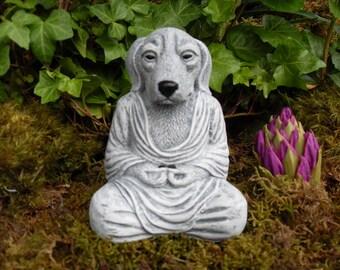 Dog Buddha,Meditating Dog Statue,Yoga Dog Statue,Dog Buddha Statue,Zen Statue,Outdoor Zen Garden Decor,Concrete