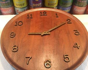 Mid Century Teak Danish Modern Westclox Wall Clock