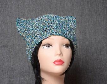 cat beanie hat, Womens beanie, teen crochet hat beanie, Knitting Accessories