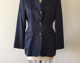 LIST / sateen / le smoking / 1990 / Jacket / Coat / Blazer / M / L