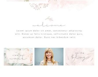 Wix Website design, wedding florist website, wedding flowers website, website template, website design, florist website WEBSITE 4868