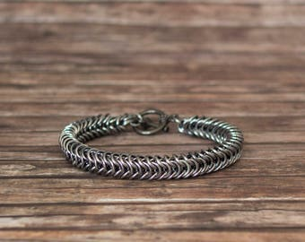 Box chain bracelet, Chainmaill for him