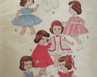Vintage Sewing, Butterick 7971, 1940s, for 11 Inch Doll, Doll Wardrobe, Dresses for Littlest Angel Doll, Doll Dress, Short or Long, Jacket