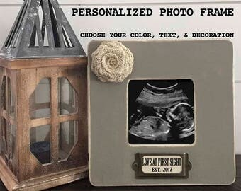 Love at first sight frame personalized mom to be gift, pregnancy gift, personalized ultrasound frame, expecting mom gift, pregnancy reveal