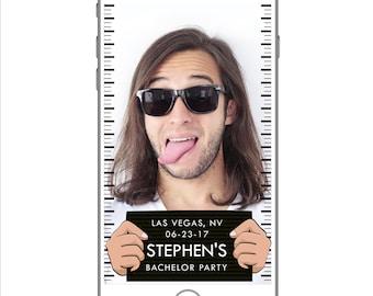 Snapchat GeoFilter POLICE MUGSHOT Bachelor Party Stag Night Bucks Night or Birthday Party