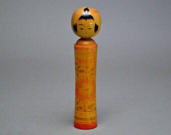 Japanese Kokeshi Doll Vintage Wooden Doll. Kawaii. Kokeshi #b12