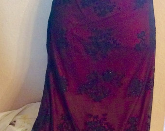 Red and Black Formal Prom Dress Size Small