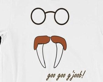 John Lennon T-shirt I Am The Walrus Glasses Beatles