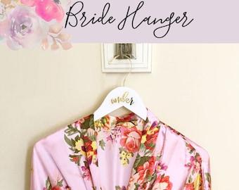 Hanger for Bride Hanger for Wedding Dress Hanger for Bridesmaids Hanger with Name Mrs Hanger White Bridesmaid Dress Hangers (EB3169)