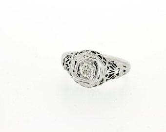 Fish Scale Diamond Ring