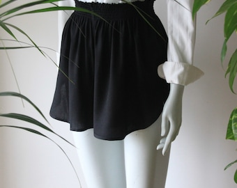 Organic Bamboo High Waist Sleep Short in Noir