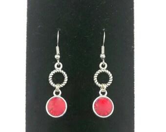 Light Siam Earrings, Red Orange Earrings, Red Crystal Drop Earrings, Red Crystal Dangle Earrings, Red Dangle Earrings, Red Drop Earrings