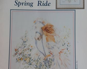 SPRING RIDE ~ Counted Cross Stitch Pattern Book Lanarte Stoney Creek