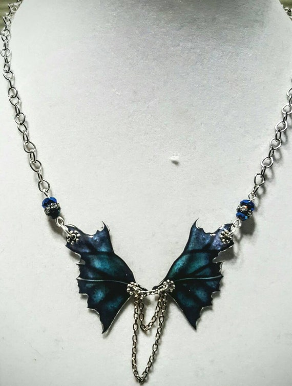 Lake Dragon Wings Necklace