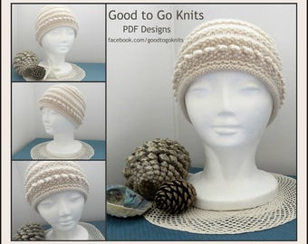 Download Now - Knitting Pattern, PDF PATTERN ONLY, Beanie Pattern, Hat Pattern, 2 Adult sizes