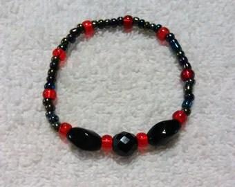 Lovely Red and Black bracelet
