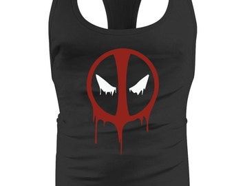 New Deadpool Drip BodyBuilding Mens / Stringer / Singlet / Vest / Racerback